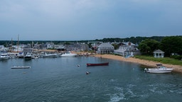 Vineyard Haven harbor on Martha's Vineyard, MA on August 12, 2013.