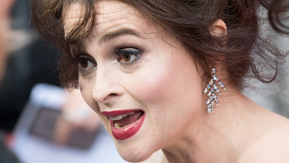 LONDON, ENGLAND - JUNE 13: Helena Bonham Carter attends the 'Ocean's 8' UK Premiere held at Cineworld Leicester Square on June 13, 2018 in London, England.