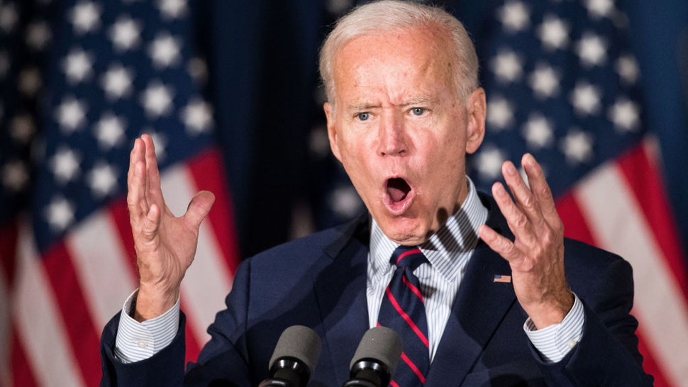 Democratic presidential candidate, former Vice President Joe Biden speaks during a campaign event on October 9, 2019 in Rochester, New Hampshire. For the first time, Biden has publicly called for President Trump to be impeached. (Photo by Scott Eisen/Getty Images)