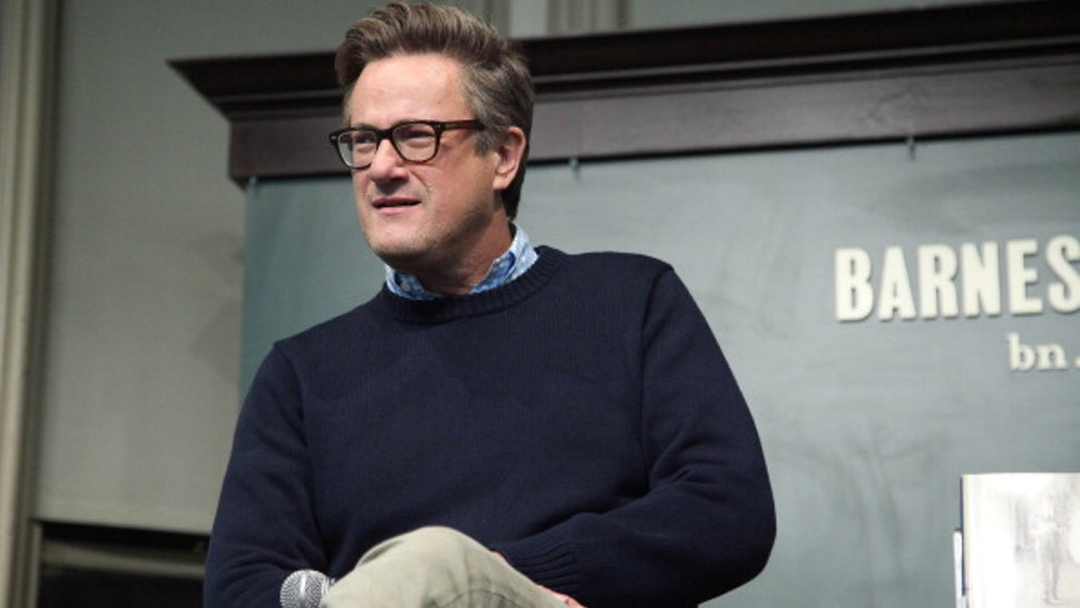 """NEW YORK, NY - NOVEMBER 12: Joe Scarborough attends the """"The Right Path: From Ike To Reagan, How Republicans Once Mastered Politics - And Can Again"""" book event on November 12, 2013 in New York, United States."""