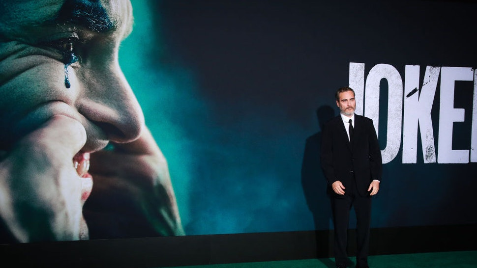 """Joaquin Phoenix attends the premiere of Warner Bros Pictures """"Joker"""" on September 28, 2019 in Hollywood, California. (Photo by Rich Fury/Getty Images)"""