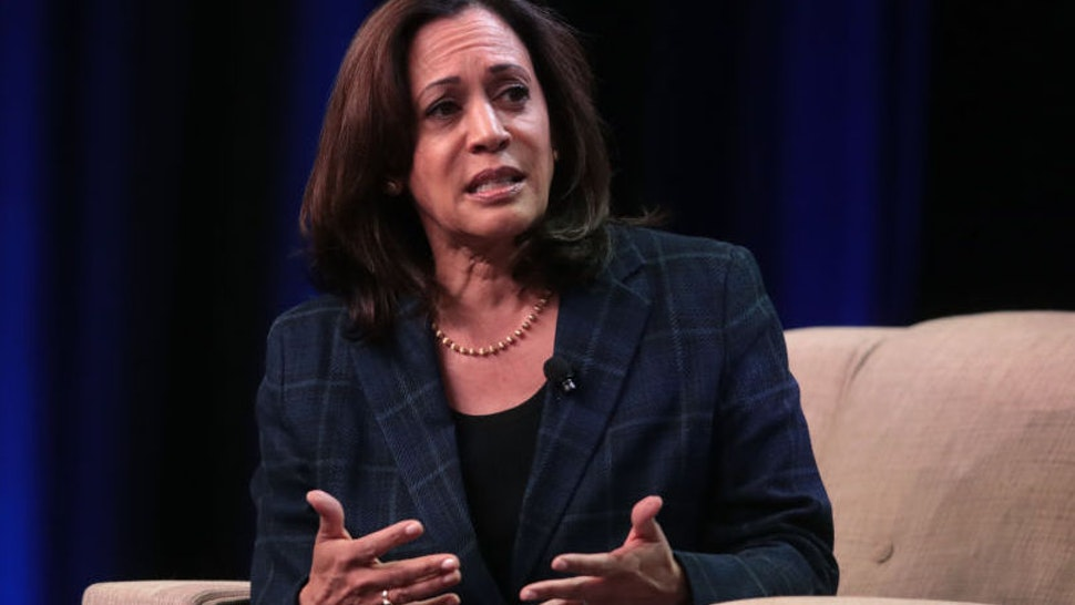 ALTOONA, IOWA - OCTOBER 13: Democratic presidential candidate Sen. Kamala Harris (D-CA) speaks to guests at the United Food and Commercial Workers' (UFCW) 2020 presidential candidate forum on October 13, 2019 in Altoona, Iowa. With 1.3 million members the UFCW is America's largest private sector union. The 2020 Iowa Democratic caucuses will take place on February 3, 2020, making it the first nominating contest in the Democratic Party presidential primaries
