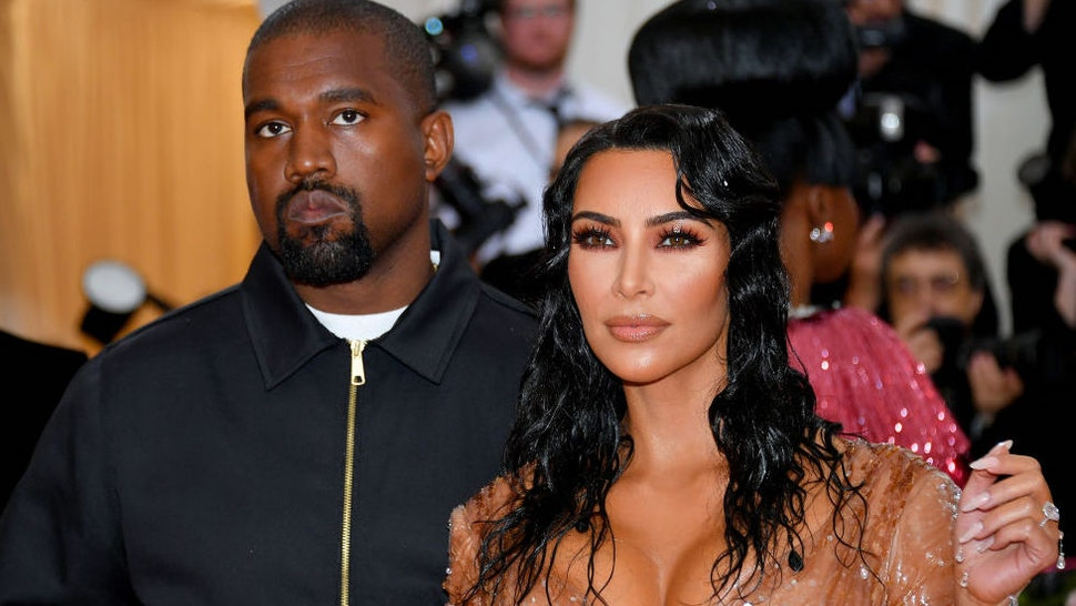 Kim Kardashian West and Kanye West attend The 2019 Met Gala Celebrating Camp: Notes on Fashion at Metropolitan Museum of Art on May 06, 2019 in New York City. (