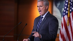 Kevin McCarthy holds his weekly news conference at the U.S. Capitol