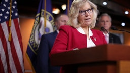 Liz Cheney and fellow GOP House leaders hold a news conference