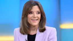 Marianne Williamson visits Fox & Friends at Fox News Channel Studio