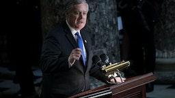 Representative Mark Meadows speaks during a memorial service for late Elijah Cummings
