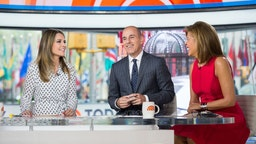 Savannah Guthrie, Matt Lauer and Hoda Kotb on Friday, April 28, 2017 -- (Photo by: Nathan Congleton/NBC/NBCU Photo Bank)