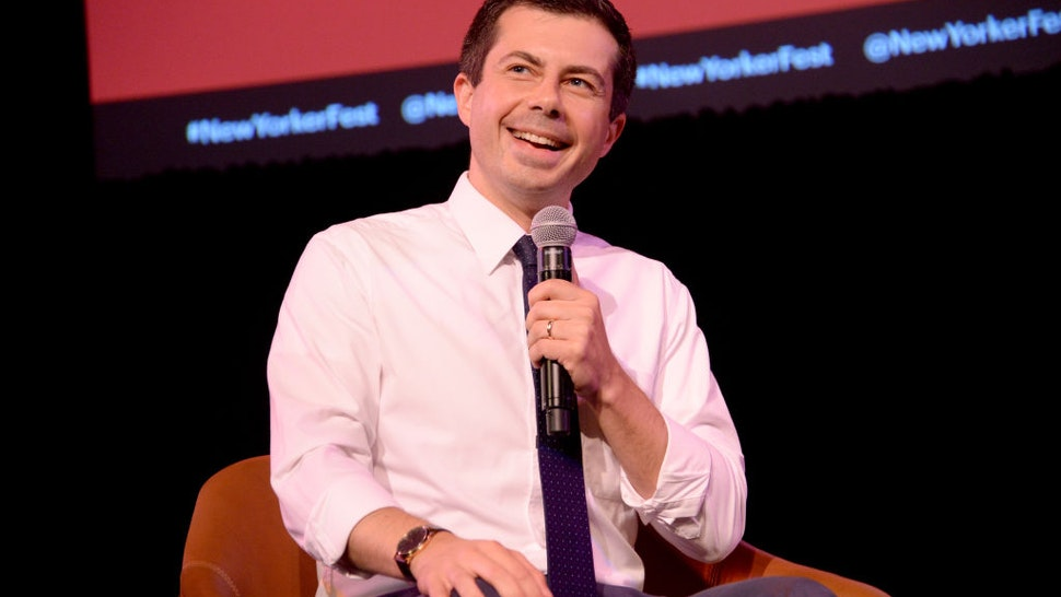 Mayor Pete Buttigieg speaks onstage during the 2019 New Yorker Festival