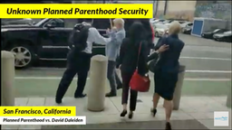 Video of an alleged security guard working for a Planned Parenthood executive laying hands on journalist Phelim McAleer.