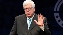 Dennis Prager, nationally syndicated conservative radio talk show host and writer, speaking at the Turning Point High School Leadership Summit in Washington, DC.