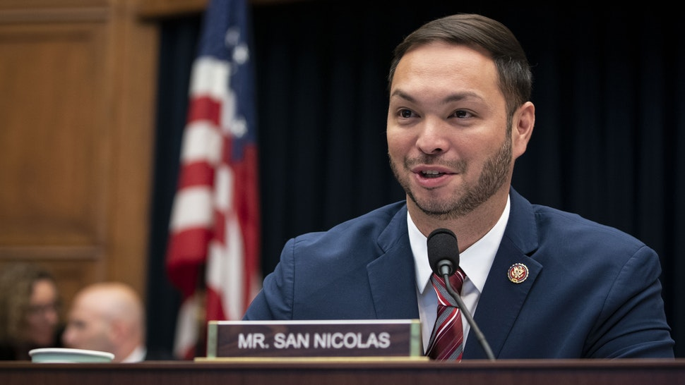 Representative Michael San Nicolas, a Democrat from Guam, speaks during a House Financial Services Committee hearing with Mark Zuckerberg, chief executive officer and founder of Facebook Inc., in Washington, D.C., U.S., on Wednesday, Oct. 23, 2019.