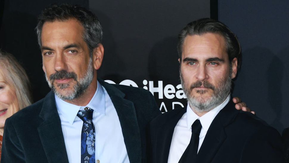 "Todd Phillips and Joaquin Phoenix attend the Premiere Of Warner Bros Pictures ""Joker"" on September 28, 2019 in Hollywood, California."