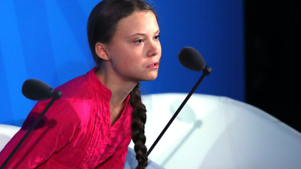 Greta Thunberg speaks at the United Nations (U.N.) where world leaders are holding a summit on climate change on September 23, 2019 in New York City.