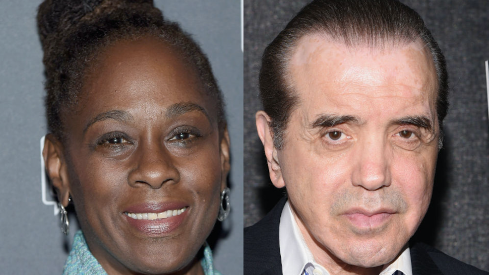NYC First Lady Chirlane McCray attends the 6th Annual Bring Change to Mind's Revels & Revelations Fundraiser at Sony Hall on October 22, 2018 in New York City. // Honoree Chazz Palminteri attends the Bronx Children's Museum Gala at Edison Ballroom on May 8, 2018 in New York City.