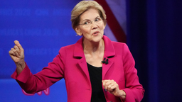 Democratic presidential candidate, Sen. Elizabeth Warren (D-MA) speaks at the Human Rights Campaign Foundation and CNN presidential town hall focused on LGBTQ issues on October 10, 2019 in Los Angeles, California.