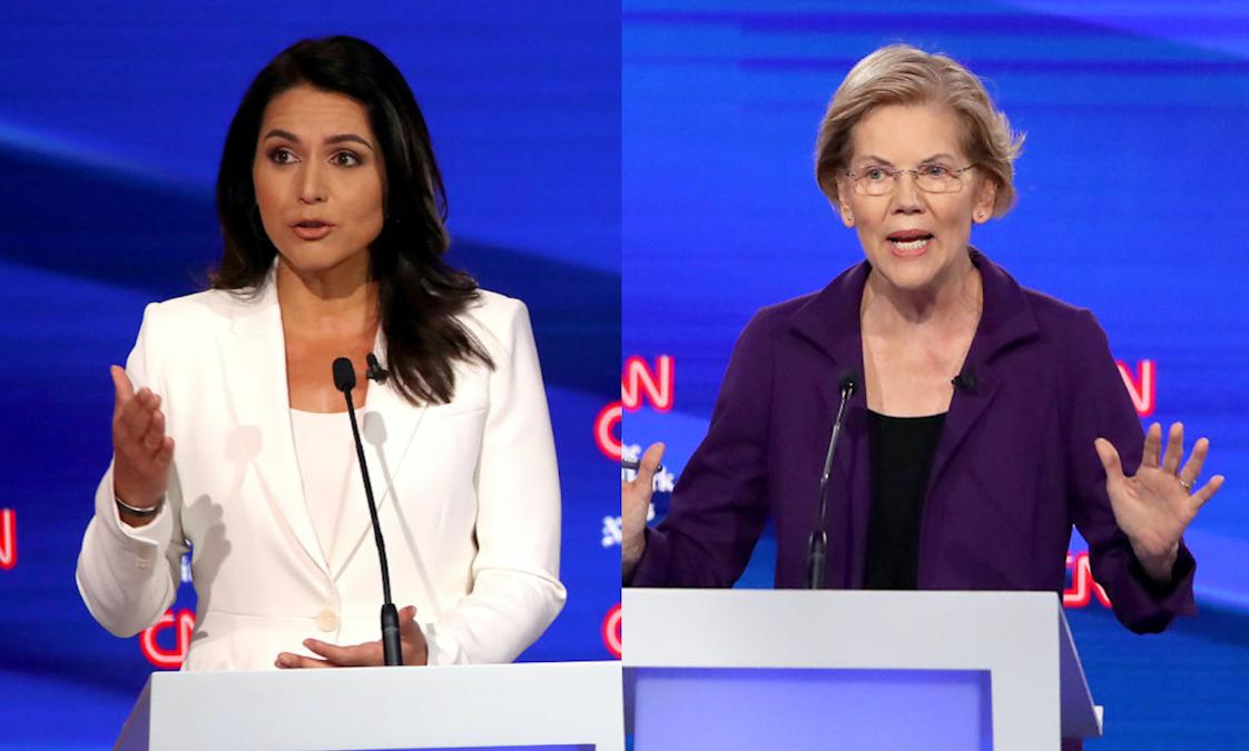 WATCH: CNN Cuts Off Tulsi Pressing Warren; Internet Erupts