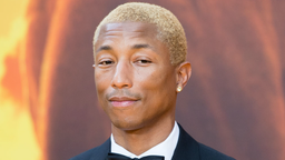 "Pharrell WIlliams attends ""The Lion King"" European Premiere at Leicester Square on July 14, 2019 in London, England."