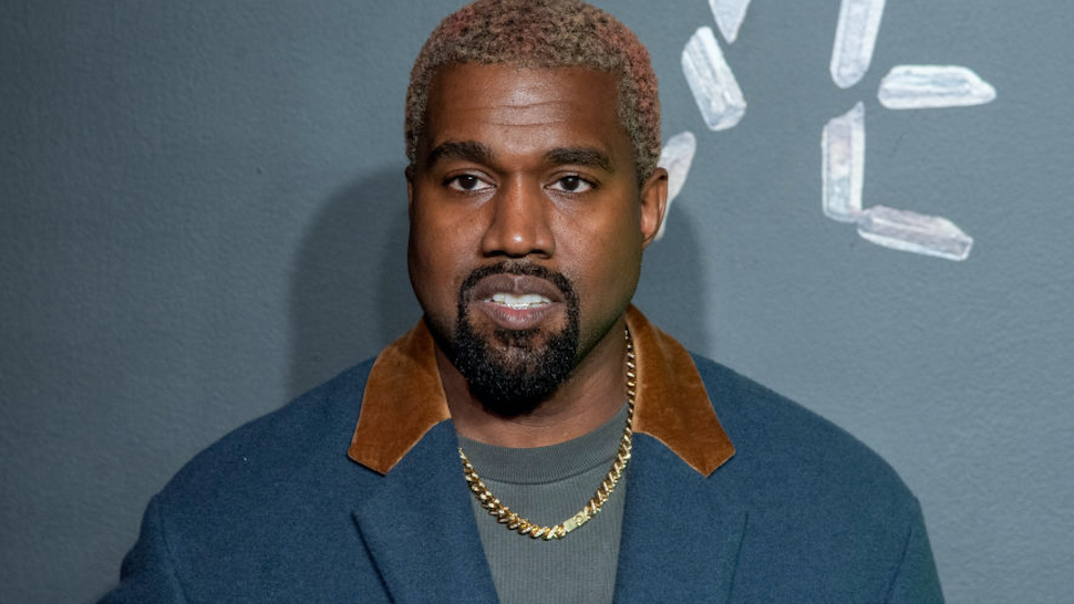 Kanye West attends the the Versace fall 2019 fashion show at the American Stock Exchange Building in lower Manhattan on December 02, 2018 in New York City.
