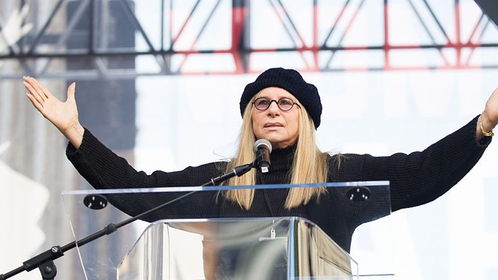 Actress Barbra Streisand speaks onstage at the women's march in Los Angeles on January 21, 2017 in Los Angeles, California. (Photo by Emma McIntyre/Getty Images)