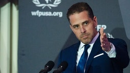 WFP USA Board Chair Hunter Biden speaks during the World Food Program USA's 2016 McGovern-Dole Leadership Award Ceremony at the Organization of American States on April 12, 2016 in Washington, DC. (Kris Connor/WireImage)