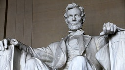Abraham Lincoln statue sits inside the rotunda of the Lincoln Memorial on April 10, 2015 in Washington, D.C.