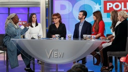 """Donald Trump Jr. and Kimberly Guilfoyle appeared today, Thursday, November 7, 2019 on ABC's """"The View,"""" as the show celebrated its 5,000th episode."""