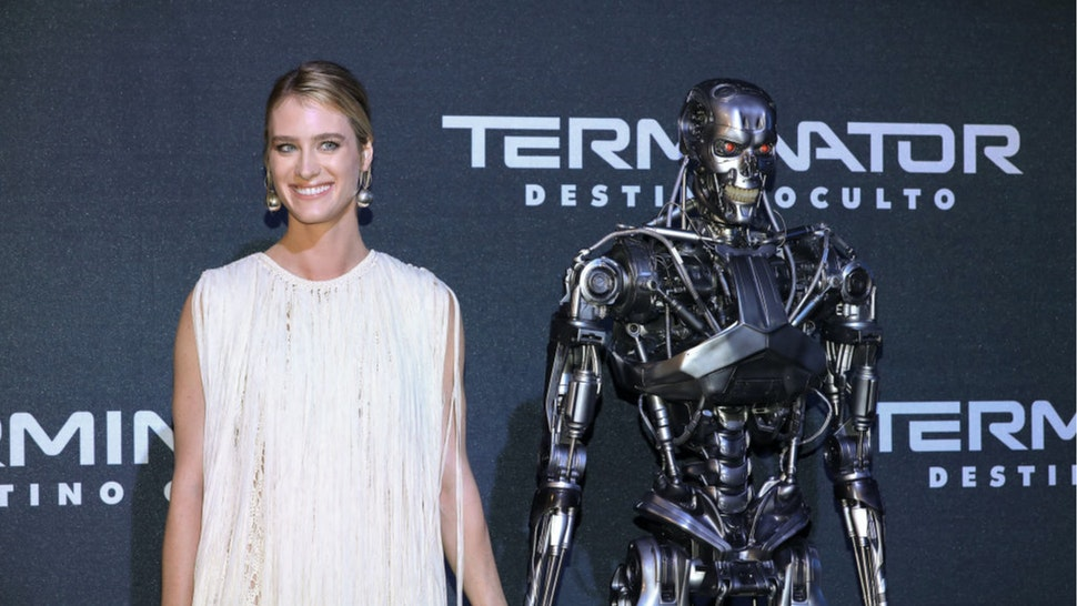 "Mackenzie Davis attends the ""Terminator: Dark Fate"" fan event at Toreo Parque Central on October 13, 2019 in Mexico City, Mexico."