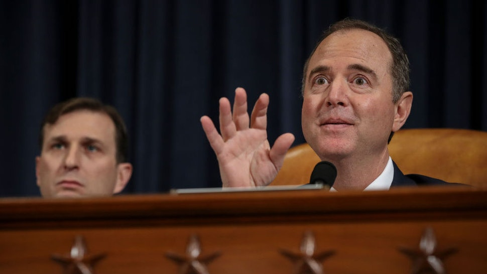 Committee chairman Rep. Adam Schiff (D-CA) delivers his closing statement following testimony from former U.S. Ambassador to Ukraine Marie Yovanovitch before the House Intelligence Committee in the Longworth House Office Building on Capitol Hill November 15, 2019 in Washington, DC. In the second impeachment hearing held by the committee, House Democrats continue to build a case against U.S. President Donald Trumps efforts to link U.S. military aid for Ukraine to the nations investigation of his political rivals. (Photo by Drew Angerer/Getty Images)