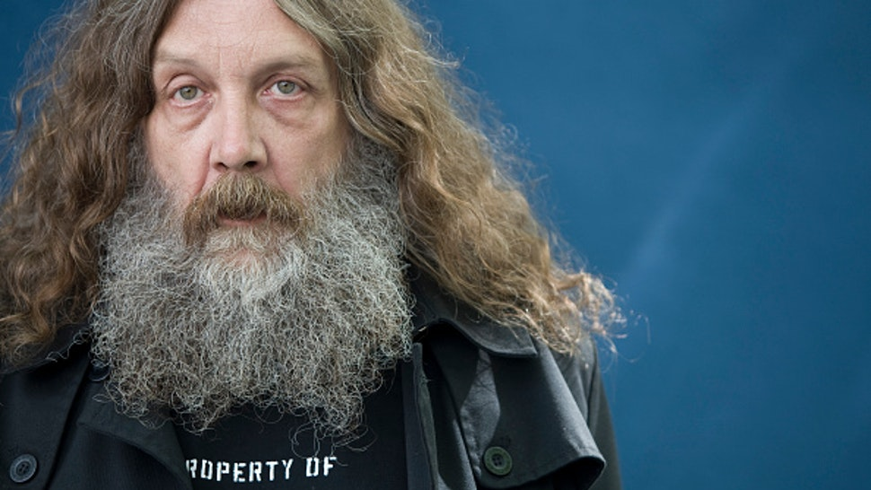 Acclaimed English comic book writer Alan Moore, pictured at the Edinburgh International Book Festival where he talked about his latest work. The three-week event is the world's biggest literary festival and is held during the annual Edinburgh Festival. The 2010 event featured talks and presentations by more than 500 authors from around the world.