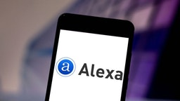 In this photo illustration the Amazon Alexa logo is seen displayed on a smartphone. (Photo by Rafael Henrique/SOPA Images/LightRocket via Getty Images)