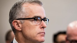 WASHINGTON, DC - June 21: Acting FBI Director Andrew McCabe testifies before a House Appropriations subcommittee meeting on the FBI's budget requests for FY2018 on June 21, 2017 in Washington, DC. McCabe became acting director in May, following President Trump's dismissal of James Comey
