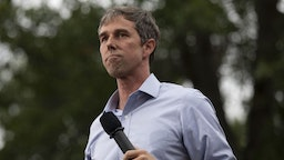 Beto O'Rourke, former Representative from Texas and 2020 Democratic presidential candidate, pauses while speaking at the Polk County Steak Fry in Des Moines, Iowa, U.S., on Saturday, Sept. 21, 2019. Presidential candidates gather in Iowa for the Polk County Democratic Party's largest annual steak fry in history, where they will work the grill and pitch the 12,000 expected attendees on their proposed ideas for the White House.