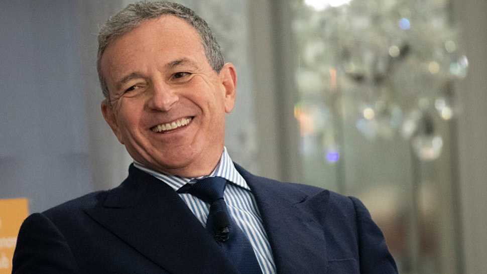 NEW YORK, NY - OCTOBER 24: Bob Iger, chairman and chief executive officer of The Walt Disney Company, speaks during an Economic Club of New York event in Midtown Manhattan on October 24, 2019 in New York City. Earlier this year, Iger announced that he will step down as CEO and chairman of Disney when his contract expires at the end of 2021.