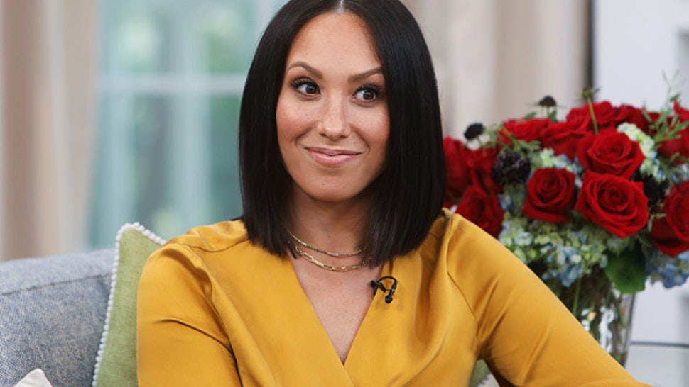 """UNIVERSAL CITY, CALIFORNIA - SEPTEMBER 26: Dancer / TV Personality Cheryl Burke visits Hallmark Channel's """"Home & Family"""" at Universal Studios Hollywood on September 26, 2019 in Universal City, California."""