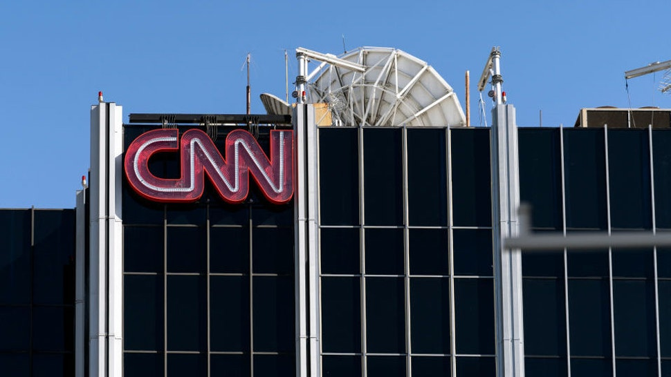 LOS ANGELES, CA, UNITED STATES - 2019/02/06: The CNN logo is seen atop its bureau in Los Angeles, California.