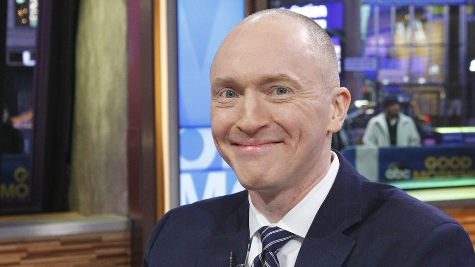 """GOOD MORNING AMERICA - George Stephanopoulos interviews Carter Page, former foreign-policy adviser to Donald Trump's 2016 Presidential campaign, on """"Good Morning America,"""" Tuesday, February 6, 2018, airing on the Walt Disney Television via Getty Images Television Network."""