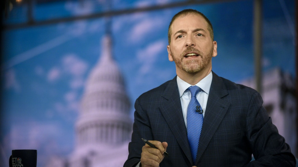 "Moderator Chuck Todd appears on ""Meet the Press"" in Washington, D.C., Sunday July 28, 2019."