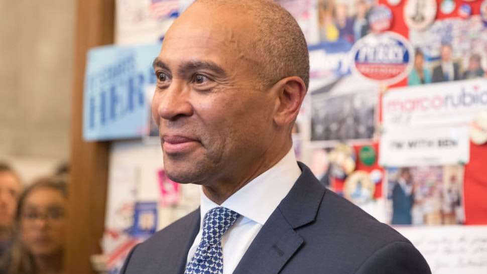CONCORD, NH - NOVEMBER 14: Former Massachusetts Governor Deval Patrick stands in the visitor center of the New Hampshire State House after he filed his paperwork to run for president in 2020 at the New Hampshire State House on November 14, 2019 in Concord, New Hampshire. Patrick announced his late entry to the presidential race with less than three months to go before the first nominating contest.