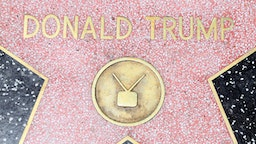 HOLLYWOOD, CA - JULY 20: The Hollywood Walk of Fame Star of Donald Trump is seen on July 20, 2016 in Hollywood, California.