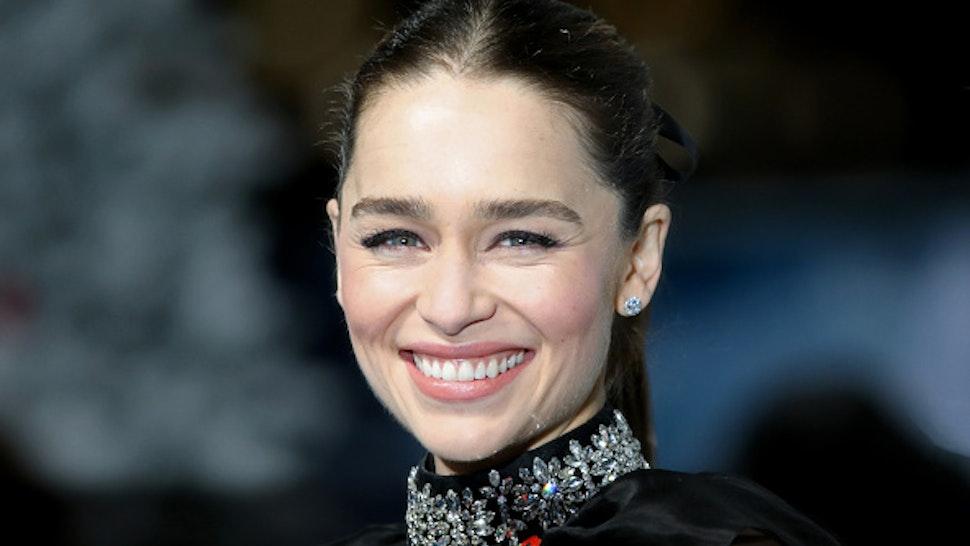 "LONDON, ENGLAND - NOVEMBER 11: Emilia Clarke attends the ""Last Christmas"" UK Premiere at BFI Southbank on November 11, 2019 in London, England."