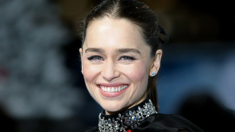 "LONDON, ENGLAND - NOVEMBER 11: Emilia Clarke attends the ""Last Christmas"" UK Premiere at BFI Southbank on November 11, 2019 in London, England."