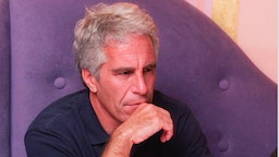 Billionaire Jeffrey Epstein in Cambridge, MA on 9/8/04. Epstein is connected with several prominent people including politicians, actors and academics.