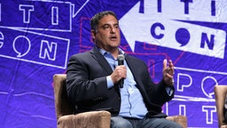 Cenk Uygur speaks onstage during Politicon 2018 at Los Angeles Convention Center on October 21, 2018 in Los Angeles, California.