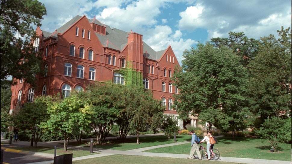 General view of Macalester College campus in St. Paul.