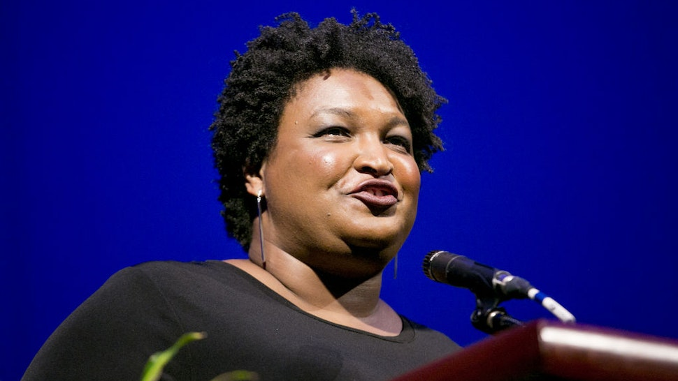 Stacey Abrams, former state Representative from Georgia, speaks during the 110th NAACP Annual Convention in Detroit, Michigan, U.S., on Monday, July 22, 2019.
