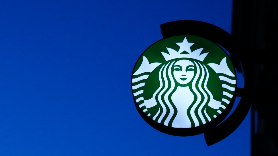 Starbucks Coffee logo is seen in Krakow , Poland on 27 October 2019 . (Photo by Jakub Porzycki/NurPhoto via Getty Images)