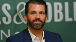 """Donald Trump Jr., poses during a signing event for his new Book """"Triggered: How the Left Thrives on Hate and Wants to Silence Us"""" at Barnes & Noble on 5th Avenue on November 5, 2019 in New York."""