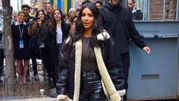 Kim Kardashian is seen out and about in Manhattan on November 7, 2019 in New York City.