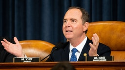 U.S. Representative Adam Schiff (D-CA) attends the Open Hearings on the Impeachment of President Donald Trump of the House Intelligence Committee in Washington.